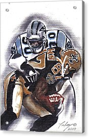 Panthers Vs Saints Acrylic Print by Torben Gray