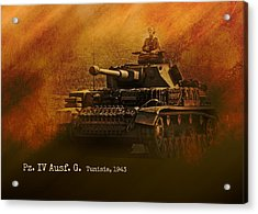 Acrylic Print featuring the digital art Panzer 4 Ausf G by John Wills