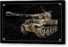 Panzer Tiger I Side Bk Bg Acrylic Print