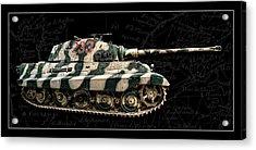 Panzer Tiger II Side Bk Bg Acrylic Print