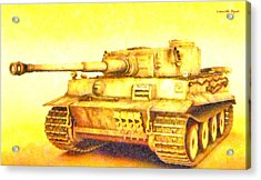 Panzer Vi Tiger - Pa Acrylic Print by Leonardo Digenio