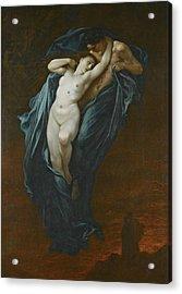 Paolo And Francesca Da Rimini Acrylic Print by Gustave Dore