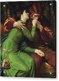 Paolo And Francesca Acrylic Print by Sir Frank Dicksee
