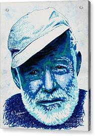 Papa Hemingway Acrylic Print by Maria Arango