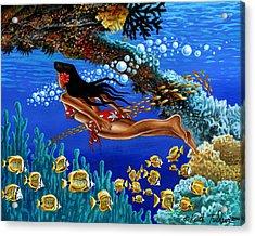 Papaku Means Bottom Of The Ocean In Hawaiian Acrylic Print by Keith Tucker
