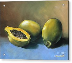 Papaya Acrylic Print by Han Choi - Printscapes