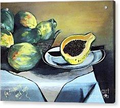 Papaya Still Life Acrylic Print