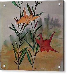 Paper Cranes 1 Acrylic Print
