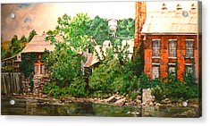Paper Mill Acrylic Print by Thomas Akers