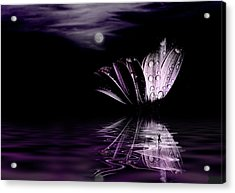 paper Moon Acrylic Print by John Poon