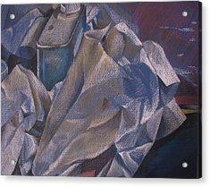 Paper No 2  Acrylic Print by Julie Orsini Shakher