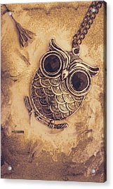 Paper Pendant Owl Acrylic Print