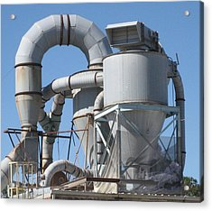 Paper Recycling Plant 2 Acrylic Print by Stephen Hawks
