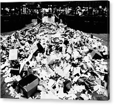 Paper Refuse After Heavy Trading Acrylic Print