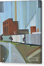 Paperboard Factory Bogota Nj Acrylic Print by Ron Erickson
