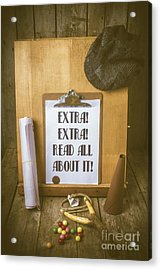 Paperboy Press Stand Acrylic Print
