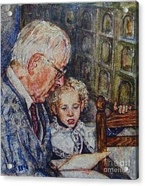 Papi Et Noemi 2 Acrylic Print by Rosemarie Martindale