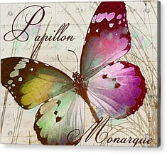 Papillon Pink Acrylic Print by Mindy Sommers