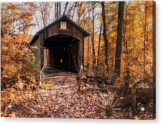 Pappy Hayes Covered Bridge Acrylic Print by Tom Mc Nemar