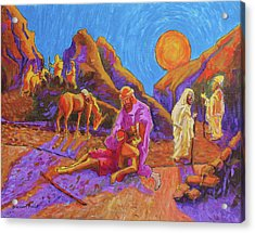Parables Of Jesus Parable Of The Good Samaritan Painting Bertram Poole Acrylic Print by Thomas Bertram POOLE