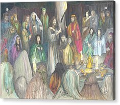 Acrylic Print featuring the drawing Parables by Rick Ahlvers