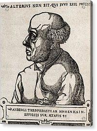 Paracelsus, Swiss Alchemist Acrylic Print by Middle Temple Library