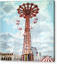 Parachute Jump In Coney Island New York Acrylic Print