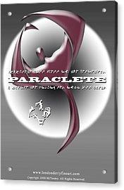 Paraclete Acrylic Print by Michael James  Toomy