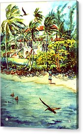 Paradise At Dorado Puerto Rico Acrylic Print by Estela Robles