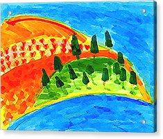 Paradise Blue Acrylic Print by Eul Hurley