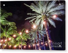 Acrylic Print featuring the photograph Paradise By Night by Wilko Van de Kamp