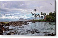 Acrylic Print featuring the photograph Paradise Cove Lagoon by Heather Applegate