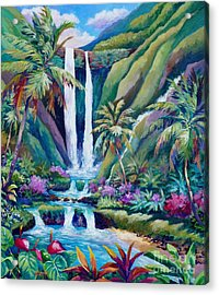 Paradise Falls  Back To Nature Acrylic Print