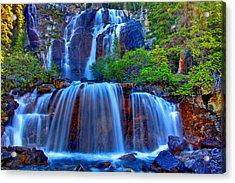 Paradise Falls Acrylic Print by Scott Mahon