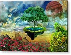 Paradise Island Acrylic Print by Ally White