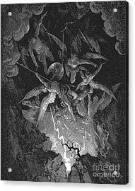 Paradise Lost  The Fall Of Man Acrylic Print by Gustave Dore