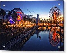 Paradise Pier Sunset Acrylic Print