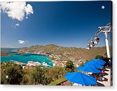 Paradise Point View Of Charlotte Amalie Saint Thomas Us Virgin Islands Acrylic Print by George Oze