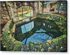Acrylic Print featuring the photograph Paradise Springs- Spring House - Kettle Moraine State Forest by Jennifer Rondinelli Reilly - Fine Art Photography