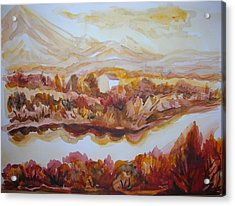 Acrylic Print featuring the painting Paradise Valley by Anna  Duyunova
