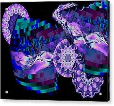 Acrylic Print featuring the digital art Paradisio by Charmaine Zoe