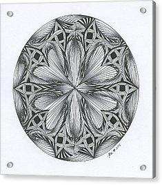 Paradoxical Zendala Acrylic Print by Jan Steinle