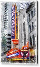 Paramount Theater Boston Ma Acrylic Print by Edward Fielding