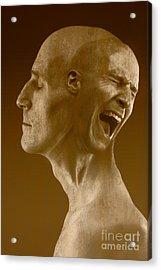 Paranoid Schizophrenia Acrylic Print by George Mattei