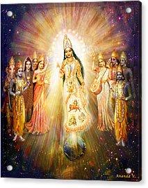 Parashakti Devi/ The Great Mother Goddess In Space Acrylic Print