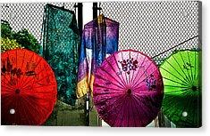 Parasols At A Flea Market Acrylic Print