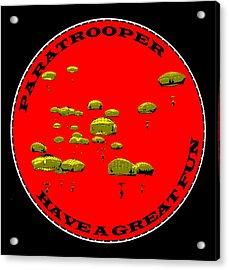 Paratrooper Fun Acrylic Print