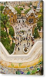 Parc Guell In Barcelona Acrylic Print