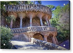 Parc Guell Walkway Acrylic Print