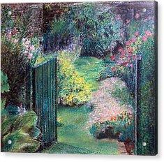 Parc Acrylic Print by Muriel Dolemieux